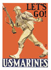 Let's Go! U.S. Marines notecards