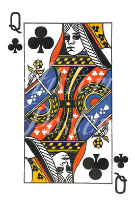 Queen of Clubs Postcard Posters Inc Historic Posters